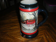 Budweiser Clydesdale 1990 Christmas Holiday Beer Stein