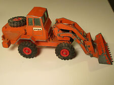 HATRA TRACTOR SHOVEL ORANGE + ROTE FELGEN MATCHBOX KING SIZE K-3 ENGLAND 60s