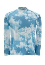 Simms SOLARFLEX Long Sleeve Crewneck ~ NEW Blue Cloud Camo ~ Large ~ CLOSEOUT