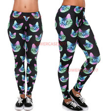 Trippy Cat heads on acid soft leggings - 8-12 UK cats animals psychedelic weirdo