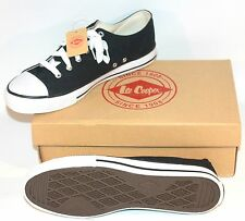✨ NEW LEE COOPER MENS SHOES (SIZE 8 UK) ~CAN LOW (BLACK) CASUAL TRAINERS BOYS ✨