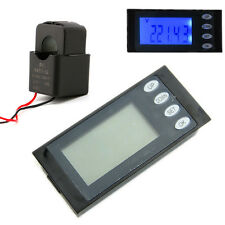 5 in 1 AC 100A Digital Combo Panel Meter Volt Amp kWh Watt Working Time + CT New