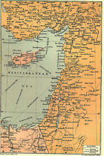 7x5 Photo ww1DBB World War 1 Map To Illustrate The Campaign Palestine 00 2 2