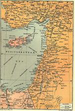 7x5 Photo ww1DBB World War 1 Map To Illustrate The Campaign Palestine 00 2 2