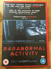 PARANORMAL ACTIVITY DVD.