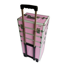 Extra Large Makeup Case Hairdressing Vanity Beauty Cosmetic Box Trolley