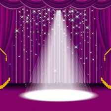 Stage Spotlight 10'x10' CP Backdrop Computer printed Scenic Background XLX-323