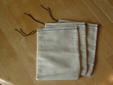 25 (4x6) Cotton Muslin Black Hem and Black Drawstirng Bags