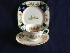 Collingwood Hand Painted Trio 5884 Vintage Bone China Oriental Scene Antique