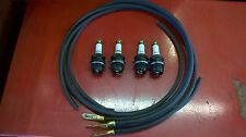 fordson standard N/E27N  set of sparkplugs and rubber HT leads