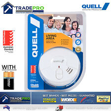 Smoke Alarm Fire Detector Chubb/Quell® Ionisation Aus Certified Bonus 9v Battery