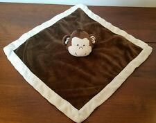 Tiddliwinks Brown Tan Monkey Baby Blanket Security Safari Friend