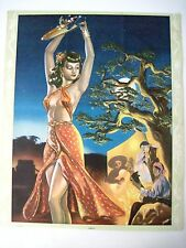 "Vintage Mexican Print Titled ""Esmeralda"" w/Gorgeous Woman Dancing"