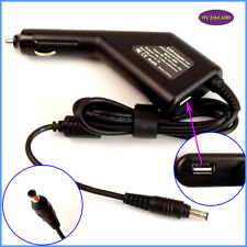 Laptop Car DC Adapter Charger + USB for Samsung NP300E5A NP300E5A-A01U NP300V5A