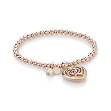 """Bracciale elastico Nomination collezione """"Roseblush"""" in acciaio rosato con perla"""