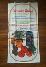 Fallani and Cohn Vintage Linen Tea Towel Tomato Salad Signed