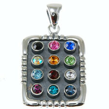 Hoshen Silver Pendant, 12 Tribes of Israel, (5.4g) Solid Sterling Silver, p427/7