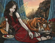 Fairy Queen Tiger Ancient City Sunset Tatiana Teagan Signed Myka Jelina Print