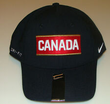 Team Canada 2014 Winter Olympics Hockey Dri Fit Black Flex Fit Hat Cap Swoosh