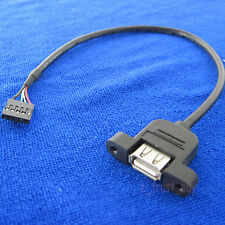 host motherboard Internal USB 5pin 5p single row male to A female usb cable cord