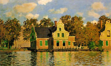 Oil painting Claude Monet - Houses on the Zaan River at Zaandam canvas