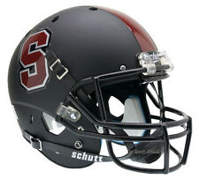 STANFORD CARDINAL BLACK SCHUTT XP FULL SIZE REPLICA FOOTBALL HELMET