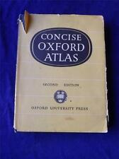 CONCISE OXFORD ATLAS VINTAGE 1958 BRITISH ISLES REST OF WORLD MAPS DUST JACKET