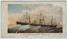 xRARE 1874 Cunard Steamship RMS Scythia - Advertising Brochure Color PRE Maiden
