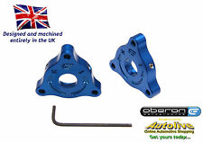 Oberon Performance Ducati 22mm A/F (Nut) Fork Adjusters #PRE-0001-BLUE