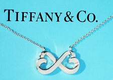 Tiffany & Co Sterling Silver Paloma Picasso Double Loving Heart Necklace