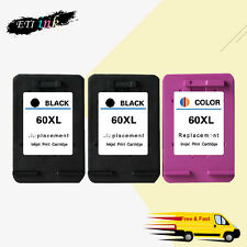 HP 60 XL Ink Cartridge BLACK & COLOR CC640WN CC643WN Deskjet F4275 F4292 F4400