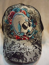 HOT SALE ED HARDY HEART BLUE SKULL ROSE MEN BLACK HATS WOMEN CAPS
