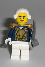 LEGO Pirates - Admiral - Figur Minifig Piraten Blaurock Bluecoat Schiff 70413