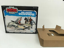 replacement vintage star wars empire strikes back snowspeeder blue box + inserts