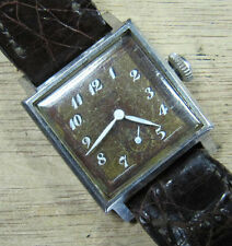 Vintage Empire Shock Proof, Waterproof Square Wristwatch W/ Alligator Band