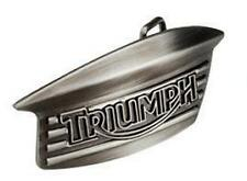 GENUINE TRIUMPH BELT BUCKLE SILVER BONNEVILLE TANK BADGE DESIGN in GIFT BOX