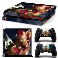 PS4 Playstation 4 Console Skin Decal Sticker Iron Man + 2 Controller Skins Set