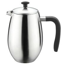 Grunwerg 3 Cup Cafe Ole Doux Double Wall Plunger Coffee Cafetiere Matt Steel