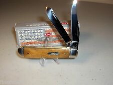 "CASE XX KNIFE - MINI TRAPPER - SMOOTH ANTIQUE BONE - 3 1/2"" Closed"