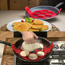 Pancake Flippin' Silicone Mold Nonstick Baking Waffle Egg Cake Perfect Form