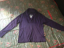 Alexander McQueen Men cashmere V-neck top casual shirts purple BNWT M