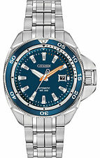 Citizen Mens Signature Grand Touring Blue Dial St Bracelet Automatic NB1031-53L