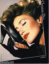 PUBLICITE ADVERTISING 055  1984  CHRISTIAN DIOR boutique  chaussures souliers