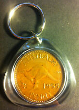 Awesome Collectible Australian 1955 Melbourne Mint Birthday Penny Key Ring