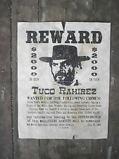 OUTLAWS TUCO WALLACH GOOD BAD & UGLY JOSEY WALES WANTED REWARD 9 AGED POSTERS