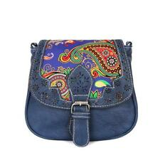Women Printed Leather Messenger Bag Shoulder Bag Handbag Crossbody Satchel UK