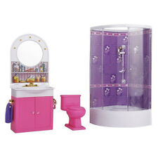 Bathroom with Shower Dressing table Furniture for House of Dolls V7L1