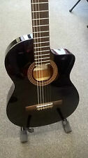 Cordoba C5-CET Classical Thin-Line electro acoustic nylon string guitar, black