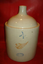 "redwing 4 gallon 4"" wing shoulder jug RED WING STONEWARE pottery CROCK minnesota"