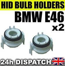 2x XENON HID H7 BULB HOLDER BMW E46 3 Series WHITE ADAPTORS PAIR 320 330 325 318